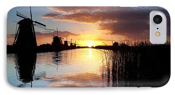 Kinderdijk Sunrise IPhone Case by Dave Bowman