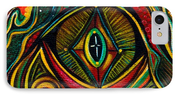 IPhone Case featuring the painting Kindness Spirit Eye by Deborha Kerr