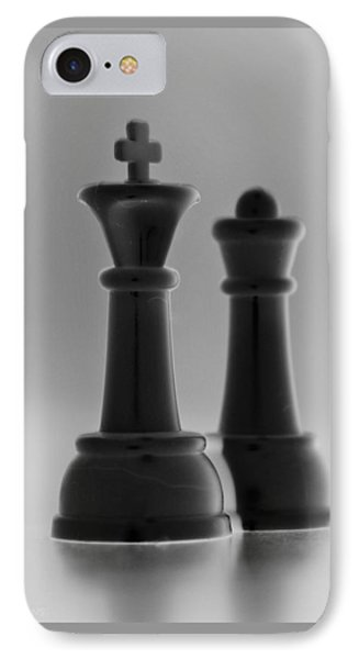 King And Queen In Black And White Phone Case by Rob Hans