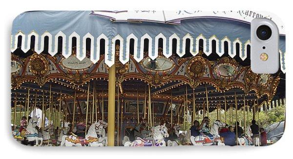 King Arthur Carrousel Fantasyland Disneyland IPhone Case by Thomas Woolworth