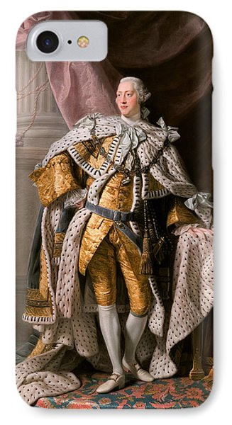 King George IIi In Coronation Robes IPhone Case by Celestial Images