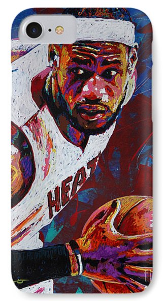 King James IPhone 7 Case by Maria Arango