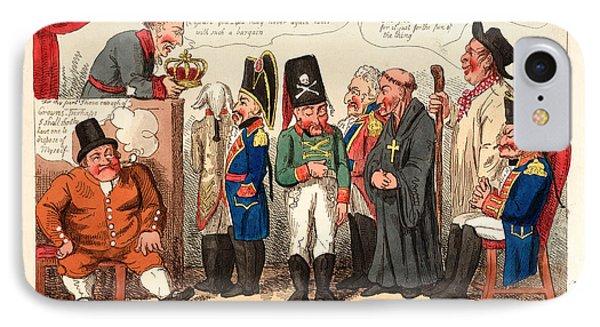King Joe Disposing Of His Spanish Crown, England IPhone Case by English School