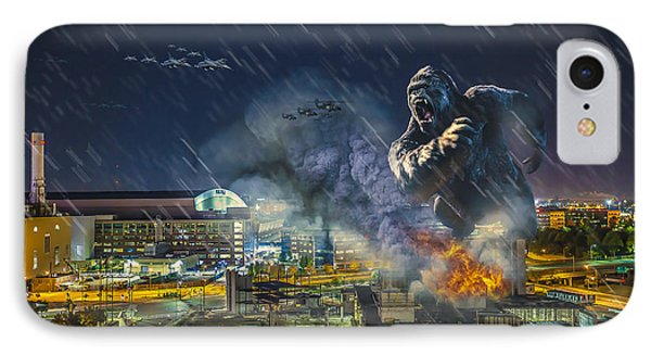IPhone Case featuring the photograph King Kong By Ford Field by Nicholas  Grunas