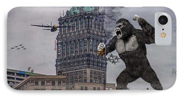 IPhone Case featuring the photograph King Kong In Detroit At Wurlitzer by Nicholas  Grunas
