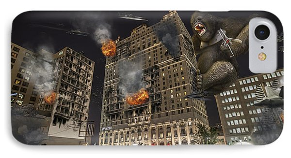 IPhone Case featuring the photograph King Kong In Detroit Westin Hotel by Nicholas  Grunas