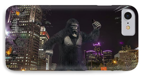IPhone Case featuring the photograph King Kong On Jefferson St In Detroit by Nicholas  Grunas