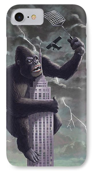 King Kong Plane Swatter IPhone 7 Case by Martin Davey