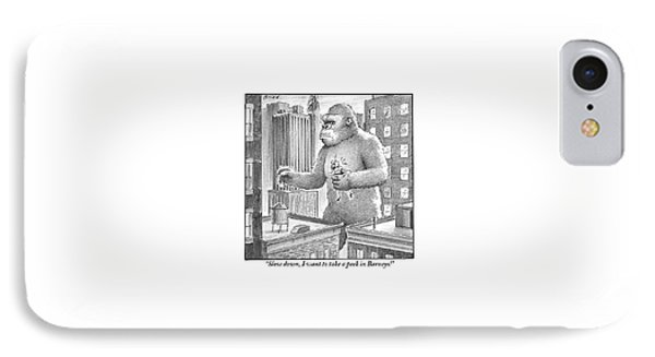 King Kong Stands In A Large City IPhone Case