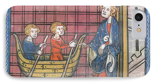 King Louis Ix Sails For France IPhone Case by British Library