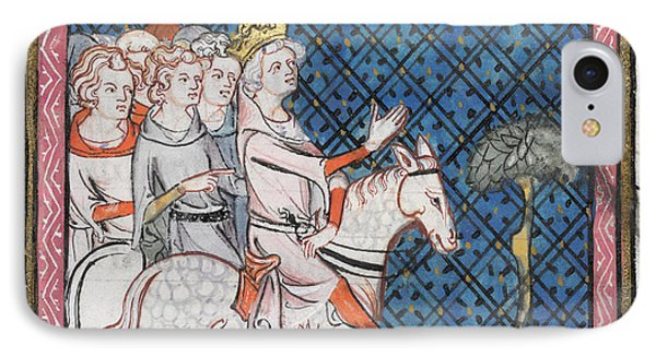 King Louis Vii Rides To Antioch IPhone Case by British Library