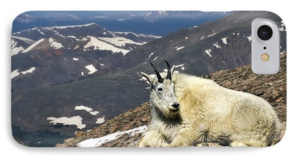 IPhone Case featuring the photograph King Of Mt. Evans by Priscilla Burgers