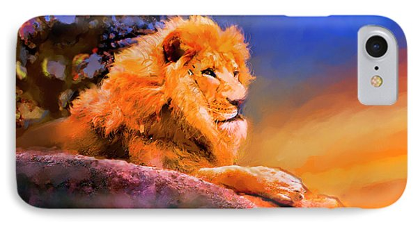 King Of The Jungle IPhone Case by Ted Azriel