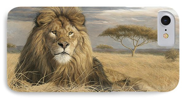 Lion iPhone 7 Case - King Of The Pride by Lucie Bilodeau