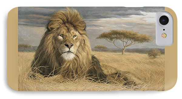 King Of The Pride IPhone Case by Lucie Bilodeau