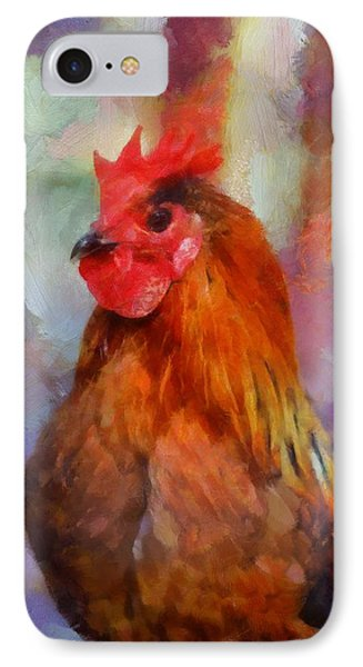 IPhone Case featuring the painting King Rooster by Kai Saarto