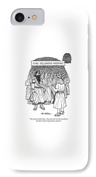 King Solomon's Wedding You May Kiss The Brides IPhone Case by J.B. Handelsman
