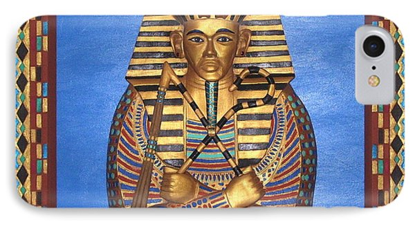 King Tut - Handcarved IPhone Case by Michael Pasko