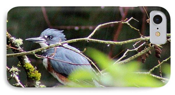Kingfisher In The Rain IPhone Case