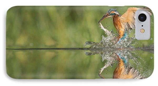 Kingfisher With Catch. Phone Case by Andy Astbury