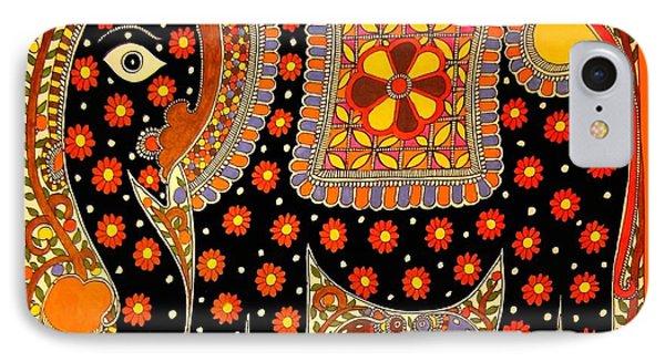 King's Elephant-madhubani Paintings IPhone Case