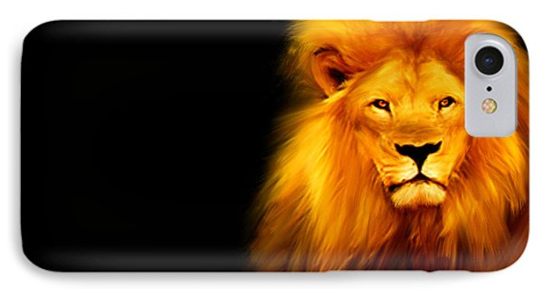 King's Portrait IPhone Case by Lourry Legarde
