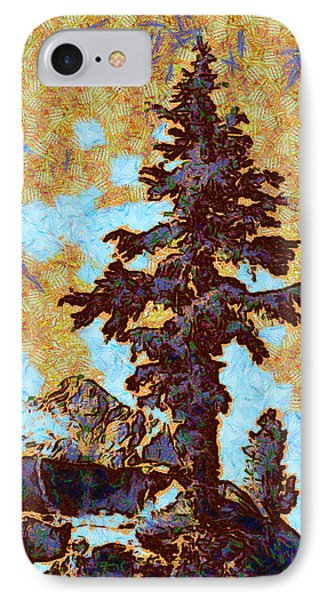 Kings River Canyon Colorized Phone Case by Ansel Adams