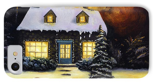 Kinkade's Worst Nightmare IPhone Case by Leah Saulnier The Painting Maniac