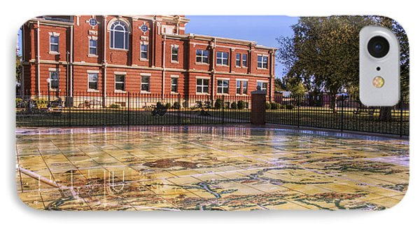 Kiowa County Courthouse With Mural - Hobart - Oklahoma IPhone Case