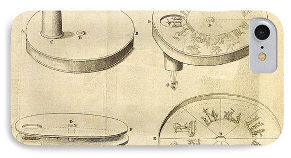 Kircher's Disc Viewer, 17th Century IPhone Case by Science, Industry And Business Library