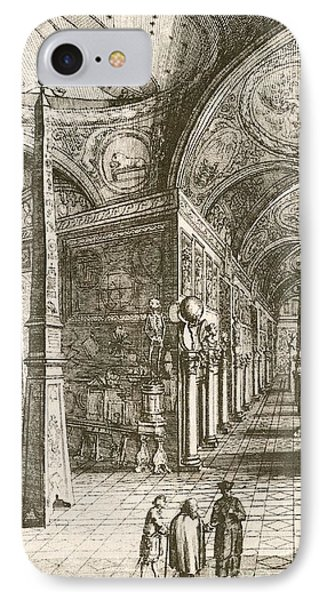 Kircher's Museum In Rome, 17th Century IPhone Case by Miriam And Ira D. Wallach Division Of Art, Prints And Photographs