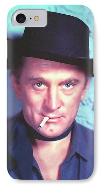Kirk Douglas In Man Without A Star Phone Case by Art Cinema Gallery