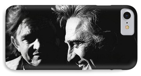IPhone Case featuring the photograph Kirk Douglas Laughing Johnny Cash Old Tucson Arizona 1971 by David Lee Guss