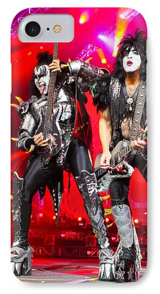Kiss - 40th Anniversary Tour Live - Simmons And Stanley IPhone Case by Epic Rights