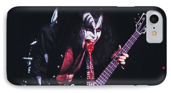 Kiss - Gene Simmons Blood 1973 IPhone Case by Epic Rights