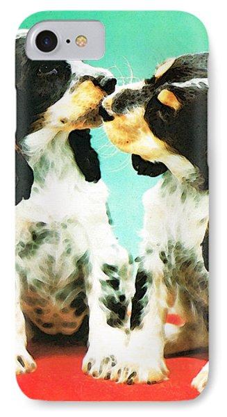 Kiss Me - Cocker Spaniel Art By Sharon Cummings Phone Case by Sharon Cummings
