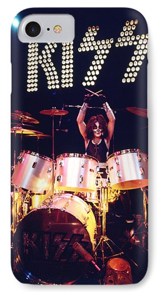 Kiss - Peter Criss 1973 IPhone Case by Epic Rights