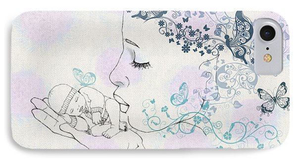 Kiss To A New Born IPhone Case by Barbara Orenya