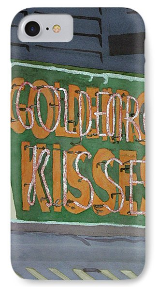 Kisses Neon Sign Phone Case by Daryl Shaw