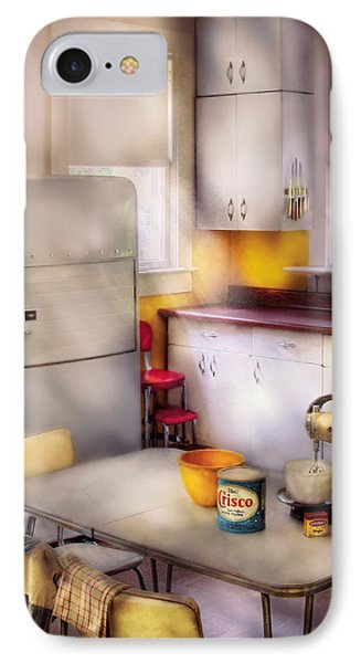 Kitchen - A 1960's Kitchen  IPhone Case by Mike Savad