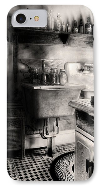 Kitchen - An Old Kitchen IPhone Case by Mike Savad