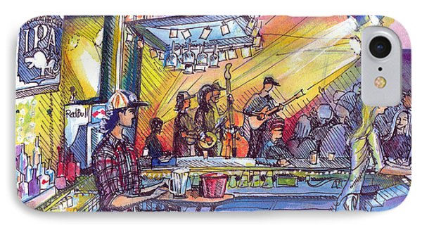 IPhone Case featuring the painting Kitchen Dwellers  by David Sockrider