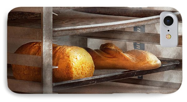 Kitchen - Food - Bread - Freshly Baked Bread  Phone Case by Mike Savad