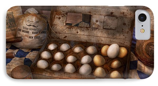 Kitchen - Food - Eggs - 18 Eggs  Phone Case by Mike Savad