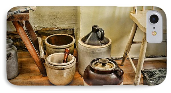 Kitchen Old Stoneware IPhone Case