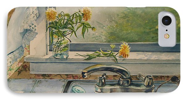 IPhone Case featuring the painting Kitchen Sink by Joy Nichols