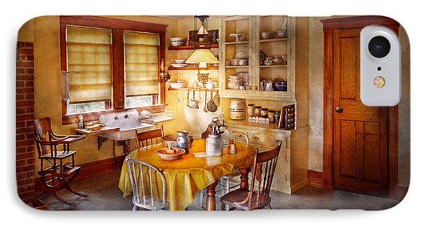 Kitchen - Typical Farm Kitchen  Phone Case by Mike Savad