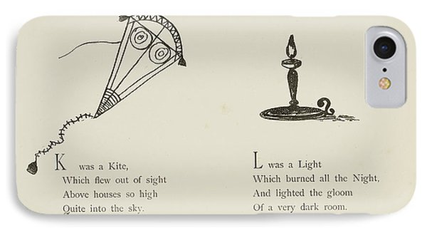 Kite And Light IPhone Case by British Library