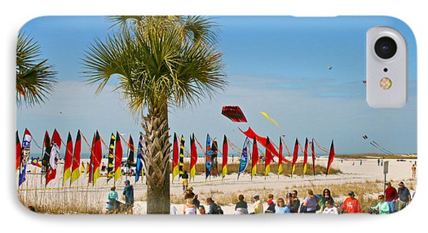 Kite Day At St. Pete Beach IPhone Case by Greg Joens