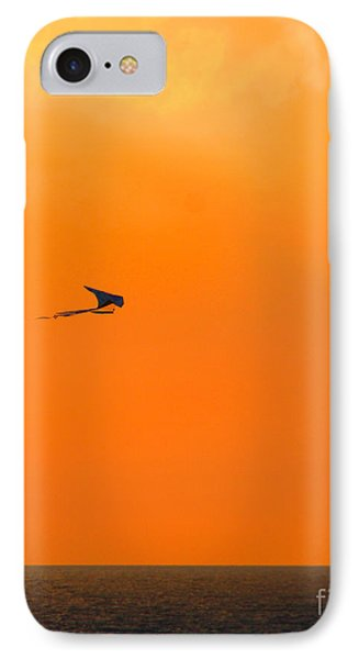 Kite-flying At Sunset IPhone Case by Mariarosa Rockefeller